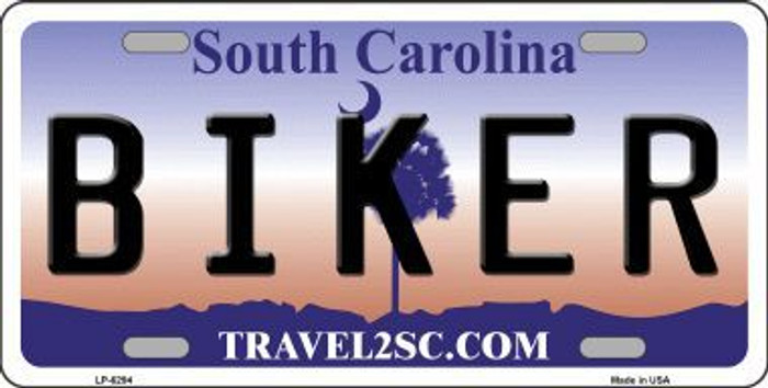 Biker South Carolina Novelty Metal License Plate LP-6294