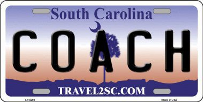 Coach South Carolina Novelty Metal License Plate LP-6298
