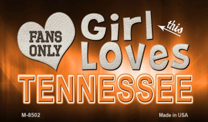 This Girl Loves Her Tennessee Novelty Metal Magnet M-8502