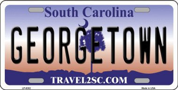 Georgetown South Carolina Novelty Metal License Plate LP-6302