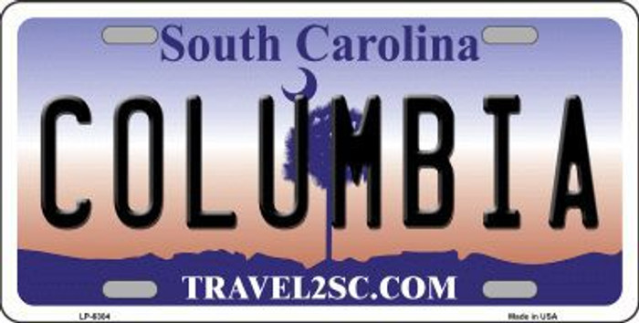 Columbia South Carolina Novelty Metal License Plate LP-6304