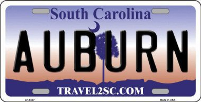 Auburn South Carolina Novelty Metal License Plate LP-6307