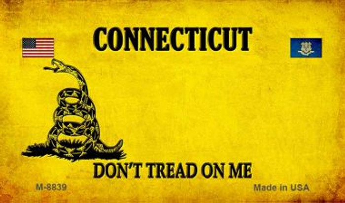 Connecticut Do Not Tread Novelty Metal Magnet M-8839