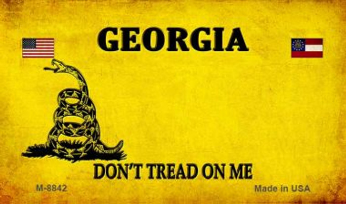 Georgia Do Not Tread Novelty Metal Magnet M-8842