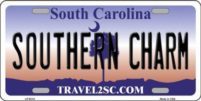 Southern Charm South Carolina Novelty Metal License Plate LP-6314