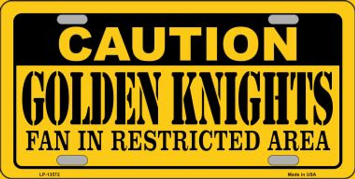 Caution Golden Knights Novelty Metal License Plate Tag LP-13572