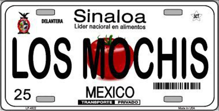 Los Mochis Mexico Novelty Background Metal License Plate LP-4822