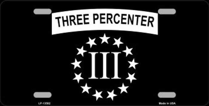 3 Percenter Ring of Stars Novelty Metal License Plate Tag LP-13582