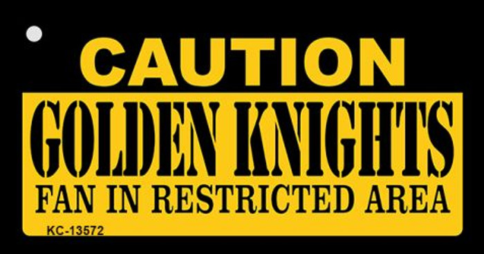 Caution Golden Knights Novelty Metal Key Chain KC-13572