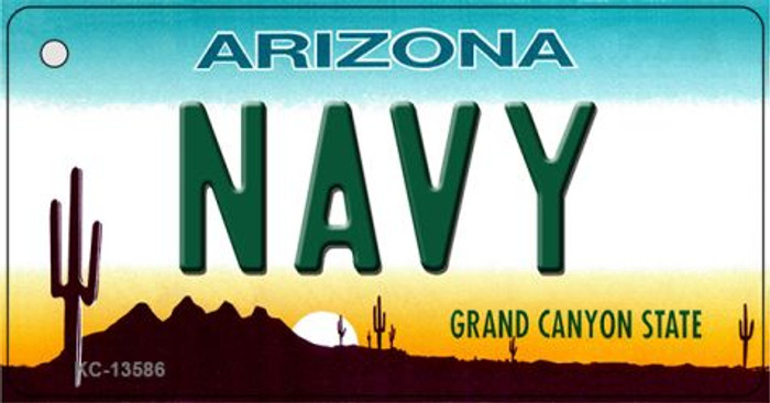 Navy Arizona Novelty Metal Key Chain KC-13586