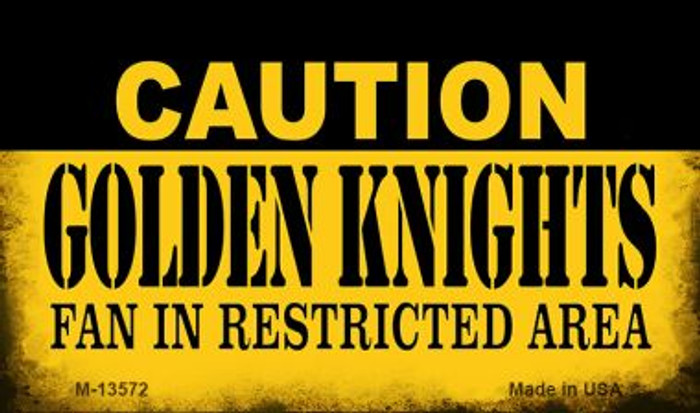 Caution Golden Knights Novelty Metal Magnet M-13572