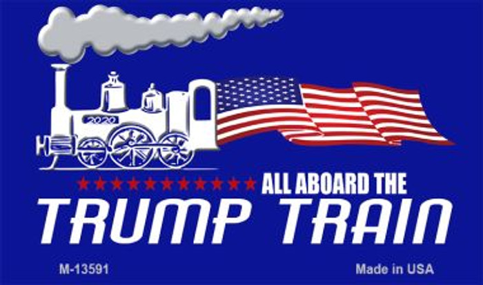 Trump Train Novelty Metal Magnet M-13591