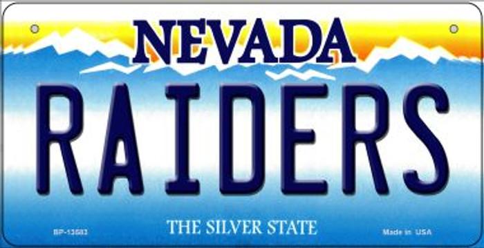 Raiders Nevada Novelty Metal Bicycle Plate BP-13583