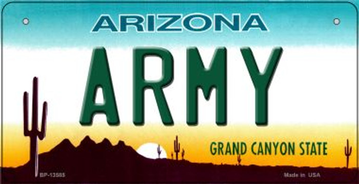 Army Arizona Novelty Metal Bicycle Plate BP-13585