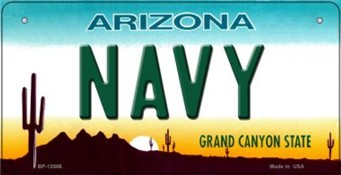 Navy Arizona Novelty Metal Bicycle Plate BP-13586