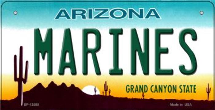Marines Arizona Novelty Metal Bicycle Plate BP-13588
