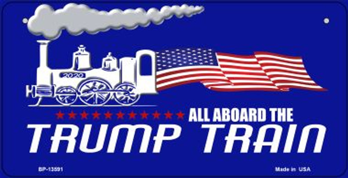 Trump Train Novelty Metal Bicycle Plate BP-13591