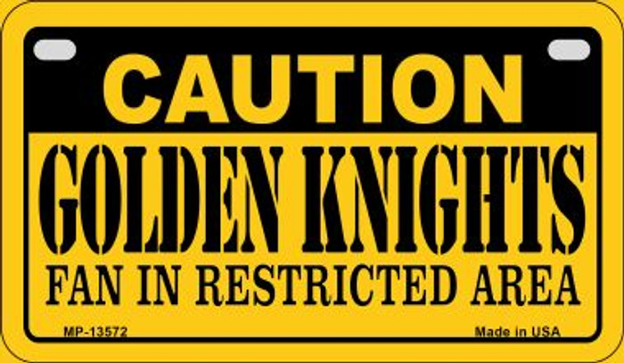 Caution Golden Knights Novelty Metal Motorcycle Plate MP-13572