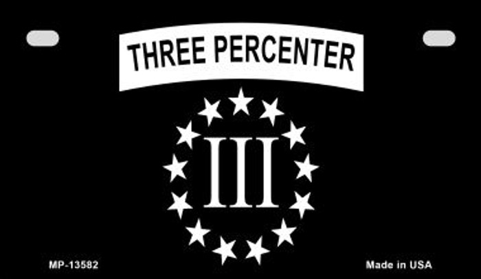 3 Percenter Ring of Stars Novelty Metal Motorcycle Plate MP-13582