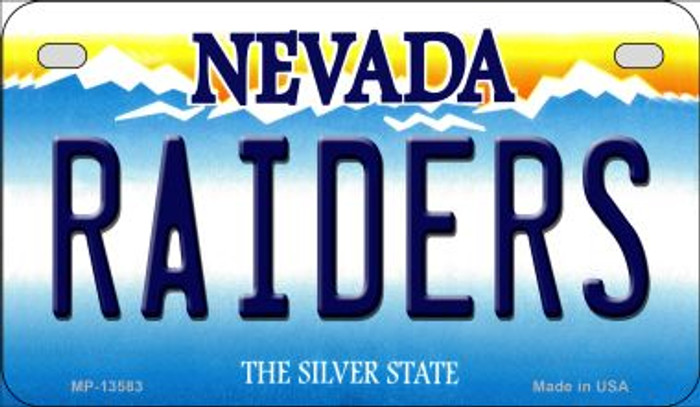 Raiders Nevada Novelty Metal Motorcycle Plate MP-13583
