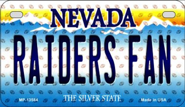Raiders Fan Nevada Novelty Metal Motorcycle Plate MP-13584