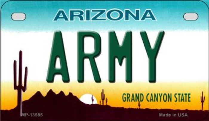 Army Arizona Novelty Metal Motorcycle Plate MP-13585