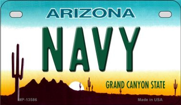 Navy Arizona Novelty Metal Motorcycle Plate MP-13586