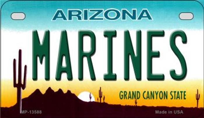Marines Arizona Novelty Metal Motorcycle Plate MP-13588