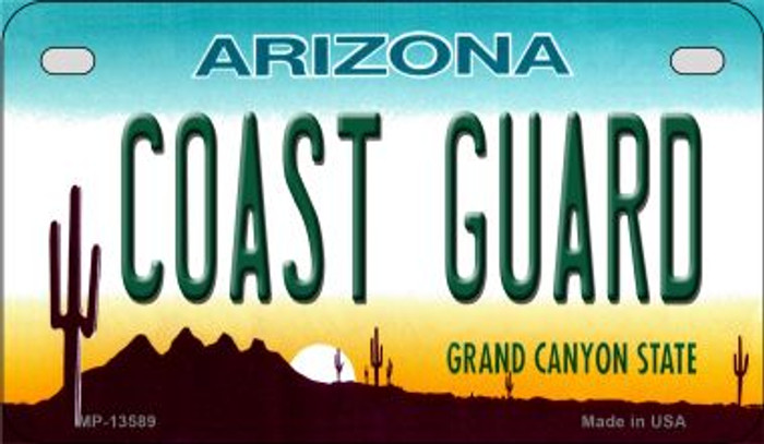 Coast Guard Arizona Novelty Metal Motorcycle Plate MP-13589