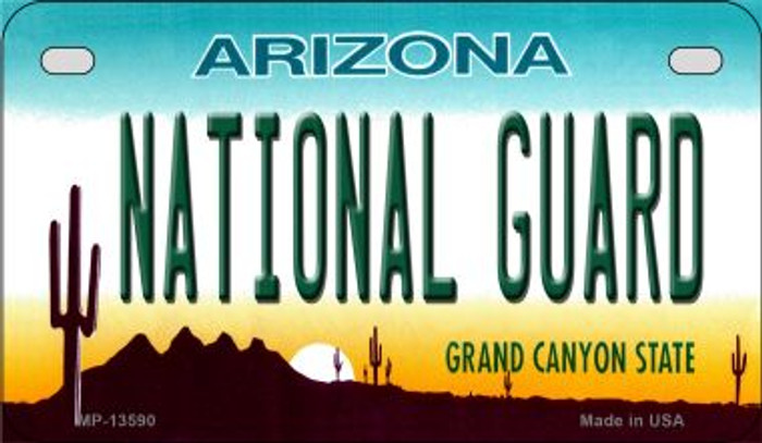 National Guard Arizona Novelty Metal Motorcycle Plate MP-13590