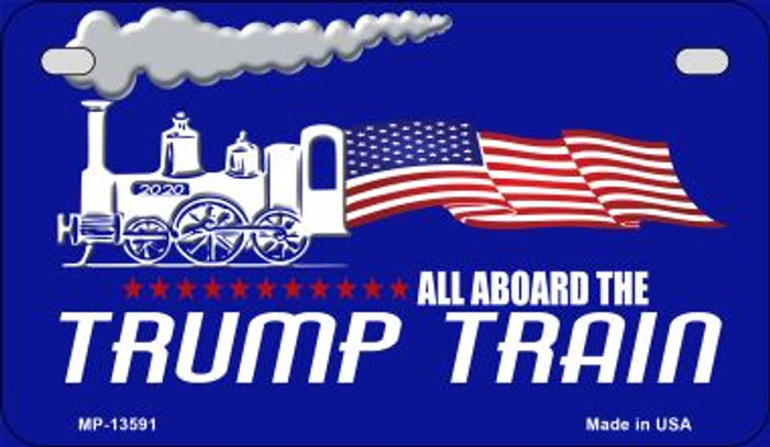 Trump Train Novelty Metal Motorcycle Plate MP-13591