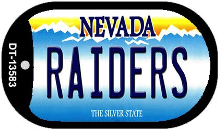 Raiders Nevada Novelty Metal Dog Tag Necklace DT-13583