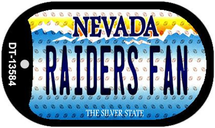Raiders Fan Nevada Novelty Metal Dog Tag Necklace DT-13584