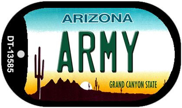Army Arizona Novelty Metal Dog Tag Necklace DT-13585