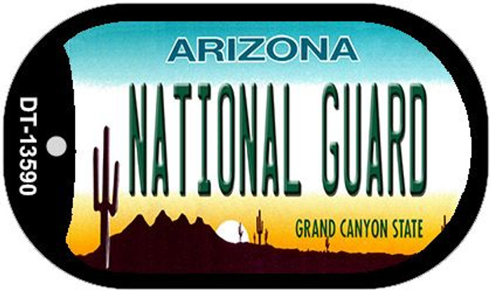 National Guard Arizona Novelty Metal Dog Tag Necklace DT-13590