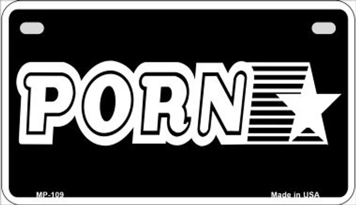 Porn Star Novelty Metal Motorcycle Plate MP-109