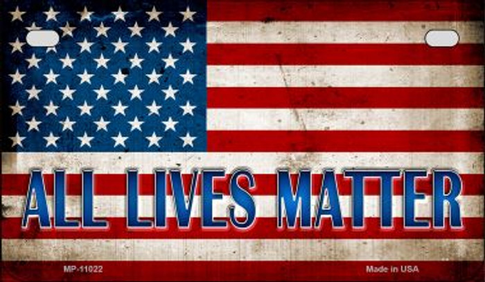 All Lives Matter Novelty Metal Motorcycle Plate MP-11022