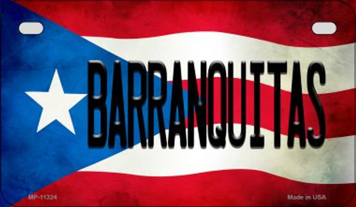 Barranquitas Puerto Rico State Flag Novelty Metal Motorcycle Plate MP-11324