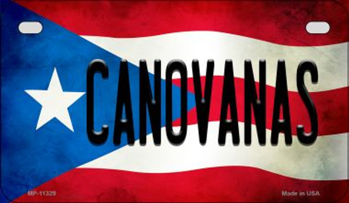 Canovanas Puerto Rico State Flag Novelty Metal Motorcycle Plate MP-11329