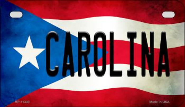 Carolina Puerto Rico State Flag Novelty Metal Motorcycle Plate MP-11330