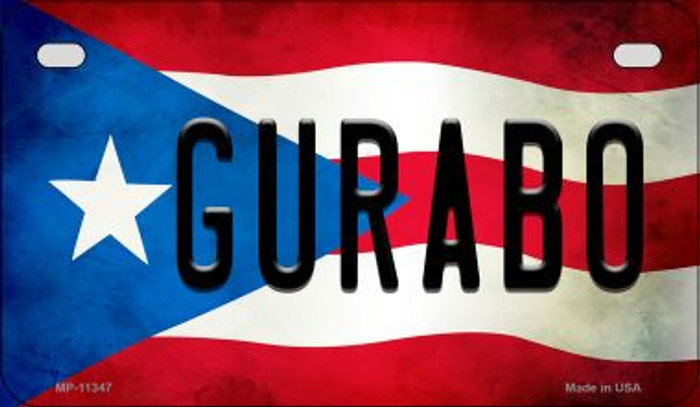 Gurabo Puerto Rico State Flag Novelty Metal Motorcycle Plate MP-11347