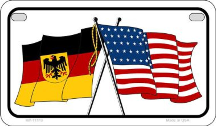 Germany / USA Flag Novelty Metal Motorcycle Plate MP-11513