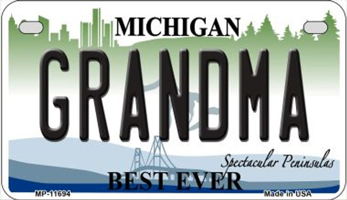 Grandma Michigan Novelty Metal Motorcycle Plate MP-11694