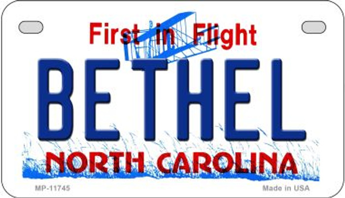 Bethel North Carolina Novelty Metal Motorcycle Plate MP-11745