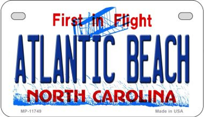 Atlantic Beach North Carolina Novelty Metal Motorcycle Plate MP-11749