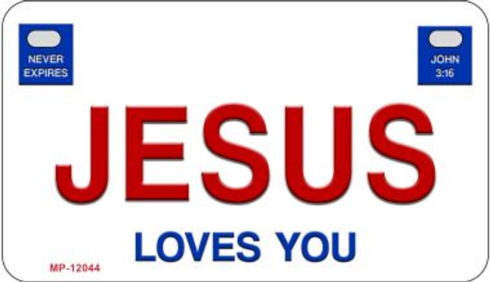Jesus Loves You Novelty Metal Motorcycle Plate MP-12044