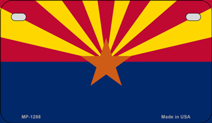 Arizona Flag Novelty Metal Motorcycle Plate MP-1288