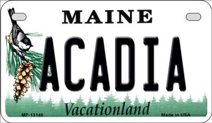 Acadia Maine Novelty Metal Motorcycle Plate MP-13146
