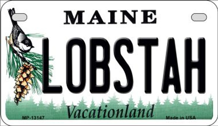 Lobstah Maine Novelty Metal Motorcycle Plate MP-13147