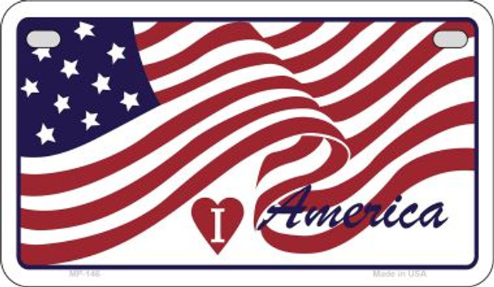 I Love America Novelty Metal Motorcycle Plate MP-146